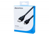 DACOMEX Cordon USB 2.0 Type-A - mini USB B noir - 1,5 m