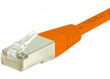 Câble RJ45 CAT 6 F/UTP - Orange - (0,5m)