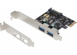 Dexlan carte pci-express 2 ports usb 3.0 5GBPS +lowprof