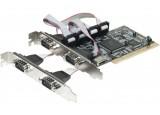 Carte PCI 4 ports série RS-232 DB9 Chipset NetMos