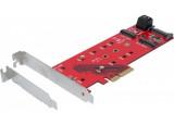DEXLAN Carte PCIe 4x triple SSD M.2. - 1 x NVMe + 2 x SATA