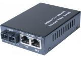 Convert. 1 fibre 100FX multimode sc 2KM vers 2x RJ45 10/100