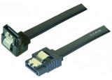 Câble sata 6GB/s coudé bas slim sécurisé (noir) - 50 cm
