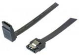 Câble sata 6GB/s coudé haut slim sécurisé (noir) - 50 cm