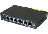 Dexlan switch 6P 10/100 dont 4 PoE+ 60W
