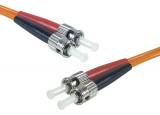 Jarretière optique duplex multimode OM1 62,5/125 ST-UPC/ST-UPC orange - 3 m