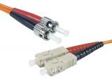 Jarretière optique duplex multimode OM1 62,5/125 SC-UPC/ST-UPC orange - 1 m