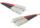 Jarretière optique duplex multimode OM1 62,5/125 SC-UPC/SC-UPC orange - 1 m