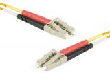 Jarretière optique duplex multimode OM1 62,5/125 LC-UPC/LC-UPC orange - 1 m