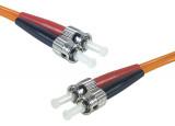 Jarretière optique duplex multimode OM2 50/125 ST-UPC/ST-UPC orange - 2 m