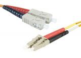 Jarretière optique duplex multimode OM2 50/125 SC-UPC/LC-UPC orange - 15 m