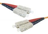 Jarretière optique duplex multimode OM3 50/125 SC-UPC/SC-UPC aqua - 8 m