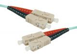 Jarretière optique duplex multimode OM3 50/125 SC-UPC/SC-UPC aqua - 30 m