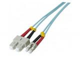 Jarretière optique duplex multimode OM3 50/125 SC-UPC/LC-UPC aqua - 20 m