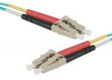 Jarretière optique duplex multimode OM4 50/125 LC-UPC/LC-UPC aqua - 10 m
