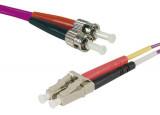 Jarretière optique duplex multimode OM3 50/125 LC-UPC/ST-UPC violet - 2 m