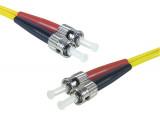 Jarretière optique duplex monomode OS2 9/125 ST-UPC/ST-UPC jaune - 1 m