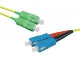 Jarretière optique duplex monomode OS2 9/125 SC-APC/SC-UPC jaune - 1 m