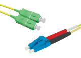 Jarretière optique duplex monomode OS2 9/125 SC-APC/LC-UPC jaune - 1 m