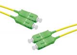 Jarretière optique duplex monomode OS2 9/125 SC-APC/SC-APC jaune - 3 m