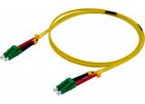 Jarretière duplex 2.0 mm OS2 LC-APC/LC-APC jaune - 5 m