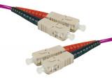 Jarretière optique duplex multimode OM4 50/125 SC-UPC/SC-UPC erika - 0,5 m