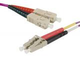Jarretière optique duplex multimode OM4 50/125 SC-UPC/LC-UPC erika - 1 m