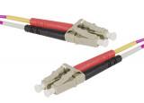 Jarretière optique duplex multimode OM4 50/125 LC-UPC/LC-UPC erika - 20 m
