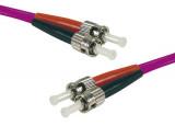 Jarretière optique duplex multimode OM4 50/125 ST-UPC/ST-UPC erika - 8 m