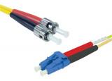 Jarretière optique duplex HD mono OS2 9/125 LC-UPC/ST-UPC jaune - 1 m