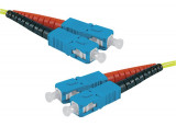 Jarretière optique duplex HD mono OS2 9/125 SC-UPC/SC-UPC jaune - 20 m