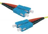 Jarretière optique duplex HD mono OS2 9/125 SC-UPC/SC-UPC jaune - 30 m