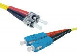 Jarretière optique duplex HD mono OS2 9/125 ST-UPC/SC-UPC jaune - 1 m