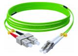 Jarretière optique duplex HD multi OM5 50/125 SC-UPC/LC-UPC vert - 5 m