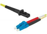 Jarretière optique duplex monomode OS2 9/125 MTRJ-UPC/LC-UPC jaune - 3 m
