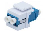 Traversée optique LC / LC Duplex UPC bleue format keystone (sachet de 10 pcs)