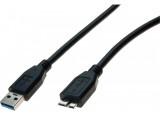 Cordon USB 3.0 type A / micro B noir - 3,0 m