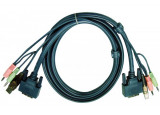 Aten 2L-7D02UD cordon KVM DVI/USB/Audio Dual Link - 1,80M