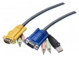 Cable E7 kvm ATEN 2L-53xxU VGA-USB-Audio - 3.0M