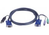 Cable kvm ATEN 2L-5506UP VGA-USB-PS2 - 6,00M