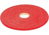 Rouleau de lien auto-agrippant largeur 16 mm - rouge - 20 m