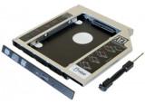 """Tiroir lecteur CD ordinateur portable pour disque HDD/SSD 2.5"""" 12,7mm"""
