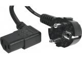 Cordon d'alimentation PC CEE7 / C13 coudé noir - 3,0 m