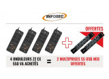 INFOSEC 4 onduleurs Z2 EX 550VA- 2 prises S5 USB Neo offerte