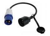 Adaptateur IEC 60309 mâle / CEE7 femelle