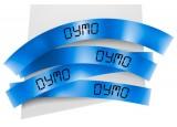 Ruban plastique dymo noir/bleu 12MM pour letratag