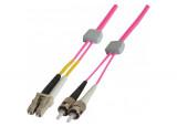 Jarretière à repérage lumineux duplex OM4 50/125 LC-UPC/ST-UPC erika - 3 m