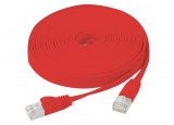 Cordon RJ45 plat CAT 6 U/FTP SNG rouge - 10 m