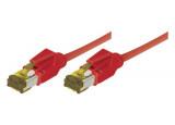 Câble RJ45 CAT 7 S/FTP a connecteurs CAT 6a - Rouge - (2m)