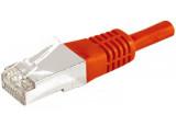 Câble RJ45  CAT6a F/UTP - Rouge - (15m)